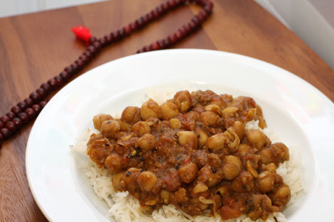 Chickpea Stew Over Basmati Rice
