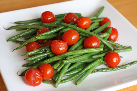 Roasted Green Beans with Cherry Tomatoes