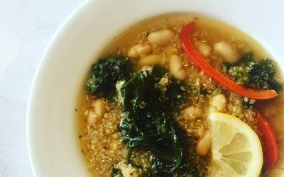 White Bean + Kale Quinoa Bowl