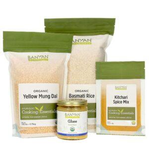 Kitchari Kit by Banyan Botanicals: Mung Dal, Basmati Rice, Kitchari Spice Mix, Ghee